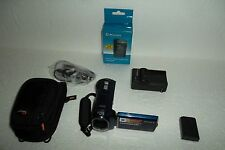 "Sony Handycam DCR-SX40 Blue Camcorder w/Carl Zeiss Optics 8GB 60X Zoom 2.7"" LCD"