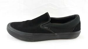 Vans Mens Off The Wall Classic Slip On Suede Black Leather Shoes Size 11.5