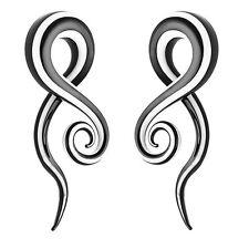 Pair Glass Spiral Snail Taper Ear Plugs Expander Stretcher Punk Gauge 5-12mm