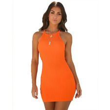 UK Womens Summer Ribbed Bodycon Mini Dress Ladies Strappy Clubwear Party Dress
