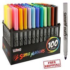 Unique Markers Color Pens Set Permanent Sketch Coloring Book Paint Rack 100 pcs