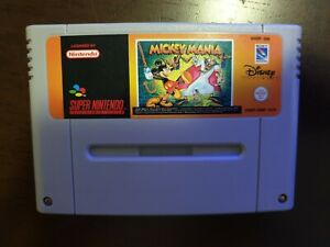 Super Nintendo SNES - Mickey Mania Tested & Working