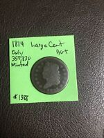 1814 Classic Head Large Cent Ag+ Rare Date