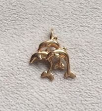 14 kt Dolphin Pendant, Solid 14 kt Gold, Great Condition