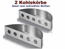 Kohlekorb 2er-Set für Kohlegrill Kohleeinsatz Edelstahl Rostfrei Grill Korb