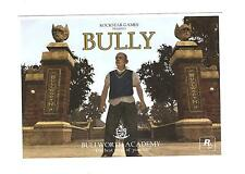 Rockstar Games BULLY Bullworth Academy postcard rare promo