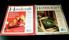 LOT 2 HANDCRAFT ILLUSTRATED MAGAZINE ~ HOLIDAY ISSUE ~ ORNAMENTS CARDS STOCKINGS