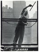 New York - Laveur de carreaux - Building - Tirage argentique d'époque - 1950 -