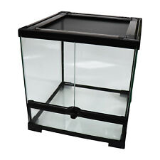 "Reptile Mini Tall Glass Terrarium / Vivarium - 30x30x32cm / 12""x12""x12.5"""
