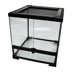 "Reptile Mini Tall Glass Terrarium / Vivarium - 30x30x32cm / 12""x12""x12.5"""