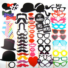 58 Photo Booth Props Moustache on A Stick Weddings Christmas Birthday Party Fun