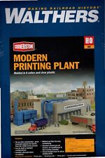 HO Scale Walthers Cornerstone 933-4079 Modern Printing Plant Building Kit