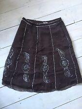 Vintage?  Deby Debo Brown Sequinned Skirt Size TS (UK 8)  Boho