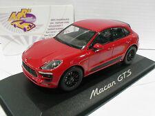 """Minichamps Werbemodell # Porsche Macan GTS Baujahr 2014 in """" dunkelrot """" 1:43"""