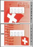 Schweiz ATM15-ATM16 (kompl.Ausg.) gestempelt 2005 Automatenmarke