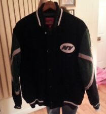OFFICIALLY LICENSED NY JETS SUEDE JACKET SIZE LARGE IN MINT CONDITION