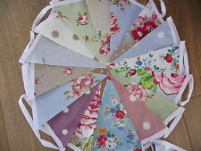 OILCLOTH FLORAL GINGHAM BUNTING WITH CATH KIDSTON CLARKE & CLARKE 15 flag