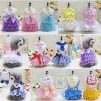 Various Pet Dog Cat Clothes Summer Bowknot Lace Princess Skirt Party Tutu Dress