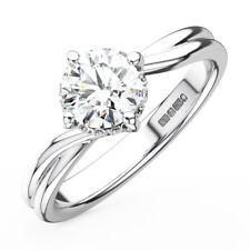 0.30CT Round Diamonds Solitaire Engagement Ring in Platinum