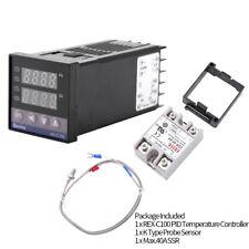 0-1300℃ Alarm REX-C100 Digital LED PID Temperature Controller Kit AC110~240V CE