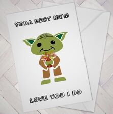 FUNNY Birthday MOTHERS DAY Card YODA BEST MUM Cheeky Love mother star wars fan