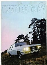 Vauxhall Ventora 2 FD 3300 1971-72 UK Market sales brochure Victor