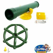 Pirate Ship Boat Steering Wheel + FREE Play Telescope climbing frame kids