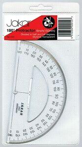 JAKAR CLEAR PROTRACTOR 180 DEGREE 150mm