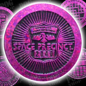 POGS 1995 Full Set of 6 SPACE PRECINCT KINIS SLAMMERS Pink - VISIT POG SHOP