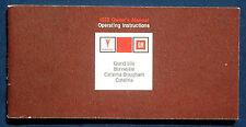 Owner'S MANUAL * Manuale di istruzioni 1972 Pontiac Grand Ville Bonneville (USA)