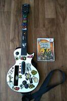 Nintendo Wii Guitar Hero Red Octane Gibson Les Paul Guitar W/ Legends Of Rock