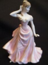 """COALPORT 'WITH THIS RING' 9"""" PORCELAIN FIGURINE by J.Bromley Ltd Ed' c.1997 EX+"""