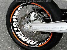 Aufkleber Felgenaufkleber Supermoto KTM SMC 690 LC4 660 625 640 EXC SMR 450 560