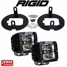 Rigid Radiance LED Fog Light Kit White Backlight for Toyota Tundra Tacoma 20200