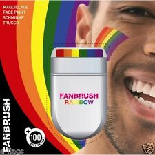 FANBRUSH RAINBOW FLAG FACE & BODY PAINT PAINTS PAINTING RAINBOW COLOURS DESIGN