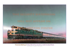 VICTORIAN RAILWAYS S CLASS DIESEL LOCOMOTIVES A3 PRINT PHOTO PICTURE POSTER x
