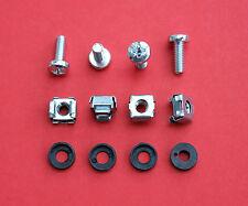 Zinc Rack mount/cage NUTS M6 X 1 Pack De (20 Tuercas,20 Tornillos & 20 cupwashers)