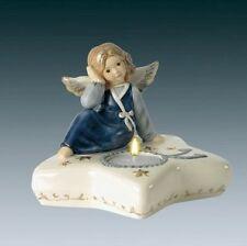 """Goebel Engel """"Sternenlicht"""" mit Teelicht 13cm Nachtblau Neuheit 2008 44-096-30-3"""