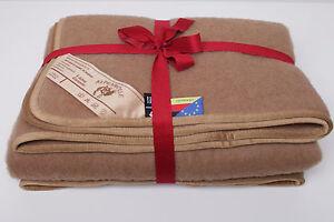 Bedspread Wool Blanket 140x200 Wool Plaid from Camel Wool Virgin Wool