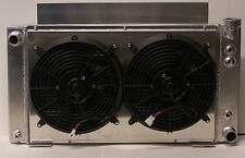 v-8 v 8 s10 aluminum radiator v8 conversion 2 row and fans and shroud