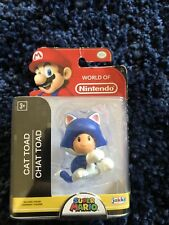 World of Nintendo Super Mario Cat Toad Blue Series 2-5 Jakks Pacific