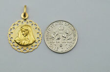 18K gold Virgin Mary ( Madonna ) medal / pendant