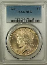 1923 Silver Peace Dollar $1 PCGS MS-62 (Better Coin) (16a)