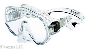 Atomic Frameless UltraClear Dive Mask, FreeDiving Scuba Snorkeling Meduim Clear