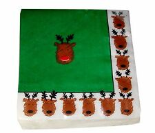 BlueInk 40 Beverage Paper Napkins Christmas Rudy and Friends Decoupage