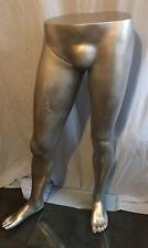 Vintage Male Mannequin Legs Detachable Leg ~ Retail ~ Jeans Display Silver