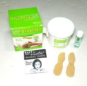 Bikini Wax Microwave Hair Remover Kit - No Strip Needed, Extra Gentle Formula