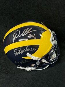 "Denard Robinson Signed & Inscribed ""Shoelace"" Michigan Wolverines Mini Helmet"