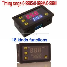 0-999 hr/min/sec DC 24V Cycle Timer Delay Time LED Digital Display Switch Relay
