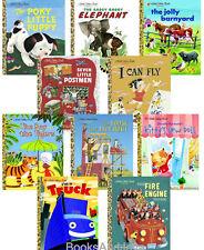 Little Golden Book Poky Puppy,Fire Engine,Jolly Barnyard+10 hardcover set